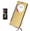 Eiroo Mirror Cover LG G4 Aynalı Kapaklı Uyku Modlu Gold Kılıf - Resim 2