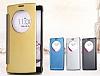 Eiroo Mirror Cover LG G4 Aynalı Kapaklı Uyku Modlu Gold Kılıf - Resim 1