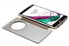 Eiroo Mirror Cover LG G4 Aynalı Kapaklı Uyku Modlu Gold Kılıf - Resim 3