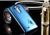 Eiroo Mirror Cover LG G4 Aynalı Kapaklı Uyku Modlu Dark Blue Kılıf - Resim 5