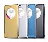 Eiroo Mirror Cover LG G4 Aynalı Kapaklı Uyku Modlu Gold Kılıf - Resim 4