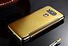 Eiroo Mirror Cover LG G5 Aynalı Kapaklı Gold Kılıf - Resim 2