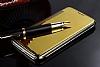 Eiroo Mirror Cover LG G5 Aynalı Kapaklı Gold Kılıf - Resim 3