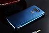 Eiroo Mirror Cover LG G5 Aynalı Kapaklı Dark Blue Kılıf - Resim 3