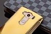 Eiroo Mirror Cover LG V10 Aynalı Kapaklı Uyku Modlu Gold Kılıf - Resim 1