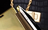 Eiroo Mirror Cover Samsung Galaxy A3 2016 Aynalı Kapaklı Gold Kılıf - Resim 3