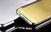 Eiroo Mirror Cover Samsung Galaxy A3 2016 Aynalı Kapaklı Gold Kılıf - Resim 2