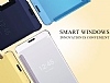 Eiroo Mirror Cover Samsung Galaxy A3 2016 Aynalı Kapaklı Siyah Kılıf - Resim 5