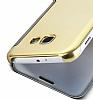 Eiroo Mirror Cover Samsung Galaxy A3 2017 Aynalı Kapaklı Siyah Kılıf - Resim 4