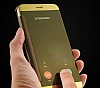 Eiroo Mirror Cover Samsung Galaxy C5 Aynalı Kapaklı Lacivert Kılıf - Resim 5