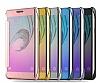 Eiroo Mirror Cover Samsung Galaxy J5 Aynalı Kapaklı Siyah Kılıf - Resim 6