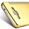 Eiroo Mirror Cover Samsung Galaxy J5 Aynalı Kapaklı Gold Kılıf - Resim 1