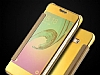 Eiroo Mirror Cover Samsung Galaxy J7 / Galaxy J7 Core Aynalı Kapaklı Gold Kılıf - Resim 2