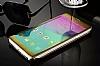 Eiroo Mirror Cover Samsung Galaxy Note 4 Aynalı Kapaklı Gold Kılıf - Resim 3