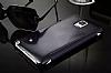 Eiroo Mirror Cover Samsung Galaxy Note 4 Aynalı Kapaklı Siyah Kılıf - Resim 3