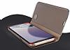 Eiroo Mirror Cover Samsung Galaxy Note 5 Uyku Modlu Aynalı Kapaklı Gold Kılıf - Resim 4