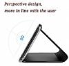 Eiroo Mirror Cover Samsung Galaxy S9 Uyku Modlu Aynalı Kapaklı Siyah Kılıf - Resim 5