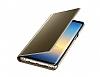 Eiroo Mirror Cover Samsung Galaxy Note 8 Uyku Modlu Aynalı Kapaklı Gold Kılıf - Resim 1