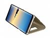 Eiroo Mirror Cover Samsung Galaxy Note 8 Uyku Modlu Aynalı Kapaklı Gold Kılıf - Resim 2
