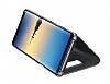 Eiroo Mirror Cover Samsung Galaxy Note 8 Uyku Modlu Aynalı Kapaklı Silver Kılıf - Resim 2