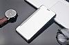 Eiroo Mirror Cover Samsung Galaxy Note FE Aynalı Kapaklı Silver Kılıf - Resim 1