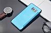 Eiroo Mirror Cover Samsung Galaxy Note FE Aynalı Kapaklı Silver Kılıf - Resim 2