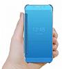 Eiroo Mirror Cover Samsung Galaxy S7 Edge Uyku Modlu Aynalı Kapaklı Gold Kılıf - Resim 1