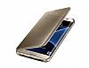 Eiroo Mirror Cover Samsung Galaxy S7 Edge Uyku Modlu Aynalı Kapaklı Gold Kılıf - Resim 3