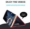 Eiroo Mirror Cover Samsung Galaxy S8 Aynalı Kapaklı Siyah Kılıf - Resim 2