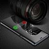 Eiroo Mirror Cover Samsung Galaxy S9 Plus Uyku Modlu Aynalı Kapaklı Siyah Kılıf - Resim 1