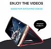 Eiroo Mirror Cover Samsung Galaxy Note 8 Aynalı Kapaklı Siyah Kılıf - Resim 2