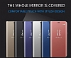 Eiroo Mirror Cover Samsung Galaxy Note 8 Aynalı Kapaklı Siyah Kılıf - Resim 5