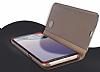 Eiroo Mirror Cover Samsung Galaxy Note 8 Aynalı Kapaklı Gold Kılıf - Resim 4
