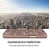 Eiroo Mirror Cover Samsung Galaxy A7 2018 Aynalı Kapaklı Gold Kılıf - Resim 4