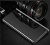 Eiroo Mirror Cover Samsung Galaxy A7 2018 Aynalı Kapaklı Gold Kılıf - Resim 1