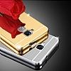 Eiroo Mirror Huawei GT3 Metal Kenarlı Aynalı Rose Gold Rubber Kılıf - Resim 3