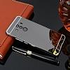 Eiroo Mirror Huawei Mate 10 Pro Metal Kenarlı Aynalı Siyah Rubber Kılıf - Resim 2