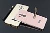 Eiroo Mirror Huawei Mate 10 Pro Metal Kenarlı Aynalı Rose Gold Rubber Kılıf - Resim 1