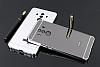 Eiroo Mirror Huawei Mate 10 Pro Metal Kenarlı Aynalı Silver Rubber Kılıf - Resim 1