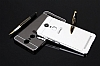Eiroo Mirror Lenovo K6 Note Metal Kenarlı Aynalı Silver Rubber Kılıf - Resim 2