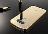 Eiroo Mirror LG G6 Metal Kenarlı Aynalı Rose Gold Rubber Kılıf - Resim 1