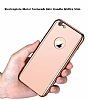 Eiroo Mirror Protect Fit iPhone 6 / 6S Aynalı 360 Derece Koruma Rose Gold Kılıf - Resim 2