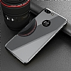 Eiroo Mirror Protect Fit iPhone 7 Plus / 8 Plus Aynalı 360 Derece Koruma Jet Black Kılıf - Resim 4