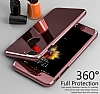 Eiroo Mirror Protect Fit iPhone 7 Plus Aynalı 360 Derece Koruma Silver Kılıf - Resim 7