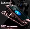 Eiroo Mirror Protect Fit iPhone 7 Plus Aynalı 360 Derece Koruma Jet Black Kılıf - Resim 5
