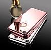 Eiroo Mirror iPhone 7 Aynalı 360 Derece Koruma Gold Kılıf - Resim 2
