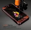Eiroo Mirror iPhone 7 Aynalı 360 Derece Koruma Gold Kılıf - Resim 1