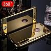 Eiroo Mirror Protect Fit iPhone SE / 5 / 5S Aynalı 360 Derece Koruma Gold Kılıf - Resim 2