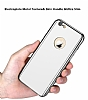 Eiroo Mirror Protect Fit iPhone SE / 5 / 5S Aynalı 360 Derece Koruma Silver Kılıf - Resim 5