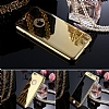 Eiroo Mirror Protect Fit iPhone SE / 5 / 5S Aynalı 360 Derece Koruma Gold Kılıf - Resim 1